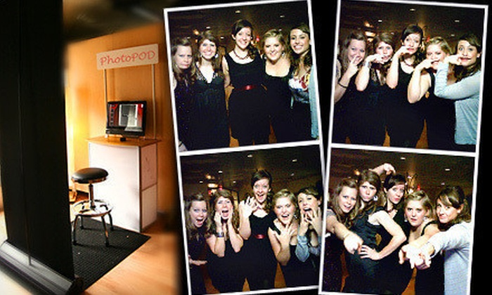 "Photoscape - Pittsburgh: Three-Hour Photo-Booth-Rental Package with Optional 4""x6"" Photo Cards from Photoscape (Up to 56% Off)"