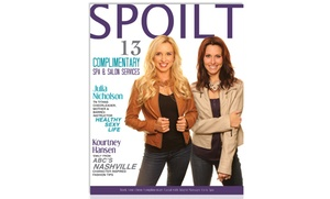 Spoilt Magazine: $49 for One Copy of Spoilt Magazine with 13 Free Spa, Salon, and Automotive Services ($1,500 Value)