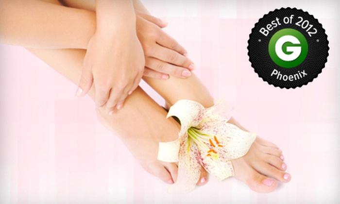 Plush Salon & Spa - Mesa: Regular or Spa Mani-Pedi or Three Spa Pedicures at Plush Salon & Spa (Up to 63% Off)