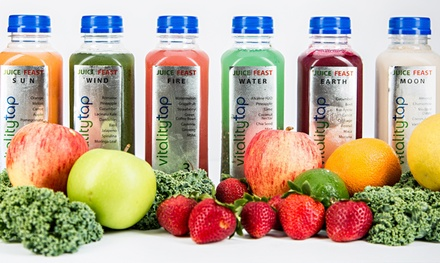 Organic Juice Feast Cleanse at Vitality Tap (Up to 46% Off)