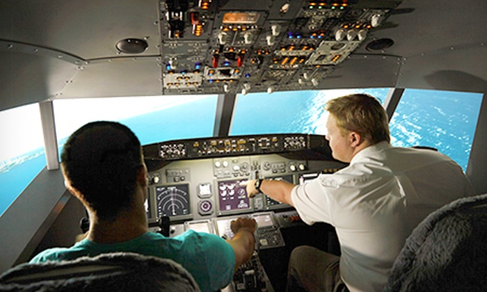 Jet Flight Simulator - Sydney - Jet Flight Simulator: Flight Simulator with Real Pilot - 30 ($89), 60 ($149) or 120 Minutes ($199) at Jet Flight Simulator (Up to $399 Value)