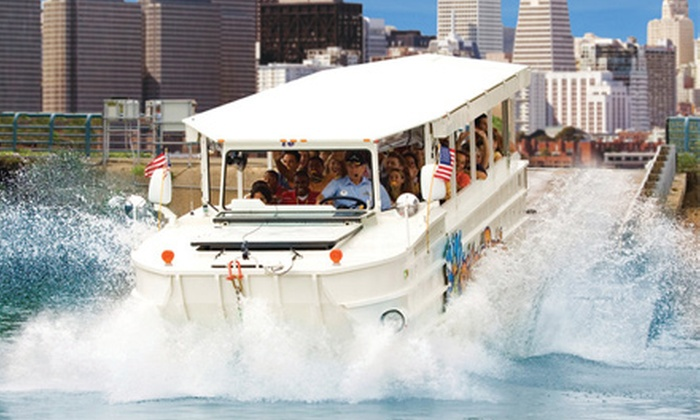 Ride The Ducks - Fisherman's Wharf: $40 for Ride the Ducks Land-and-Water Tour for Two (Up to $70 Value)