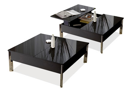 Table basse carr e plateau relevable groupon shopping - Table basse relevable new york ...