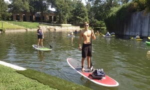 SUPSATX: Standup-Paddleboard Lesson with Option for a 60-Minute Guided Tour from SUPSATX (50% Off)
