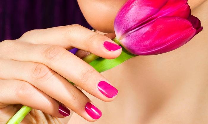 Rain Salon & Spa - Southeast Meridian: Caribbean, Stress-Fix, or Rosemary-Mint Manicure, Pedicure, or Both at Rain Salon & Spa (Up to 53% Off)