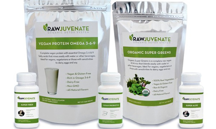 Raw Green Organics: Two- or Four-Week RawJuvenate Complete Organic Detox from Raw Green Organics (Up to 57% Off)