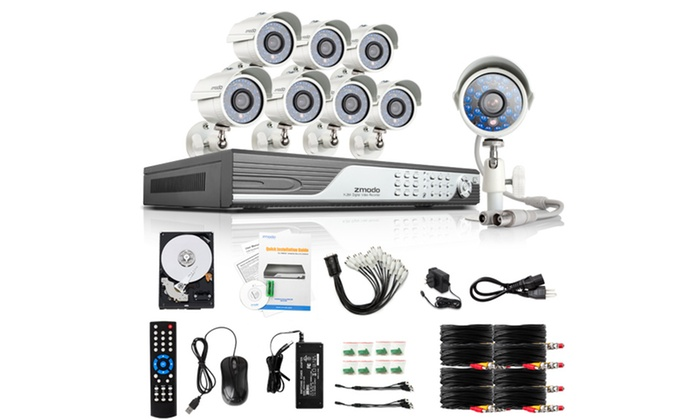 Zmodo 16-Channel DVR Security System with Night Vision Cameras: Zmodo 16-Channel DVR Security System with 1TB Hard Drive and 8 Night Vision Cameras (KDF6-YARUZ8ZN-1T). Free Returns.