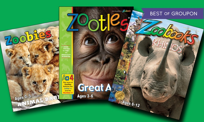 Zoobooks: Zoobooks, Zootles, or Zoobies Magazine; 1- or 2-Year Subscription for $10 or $19