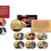 John Wayne or Marilyn Monroe Gold–Plated Colorized Quarters