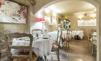 Menu dégustation en 4 services par le chef Matthieu Lestrade dans son restaurant le Clos Saint-Basile dès 84,90 € pour 2