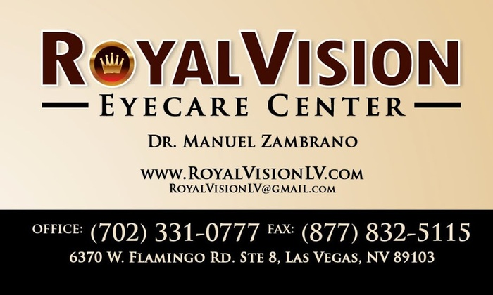 Royal Vision - Spring Valley: $99 for $200 Worth of Eye Exam w/ Refraction at Royal Vision
