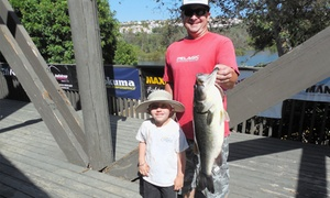 Laguna Niguel Lake: Fishing for Two with Pole Rental, Permits, Bait, and Optional Boat Rental at Laguna Niguel Lake (Up to 50% Off)