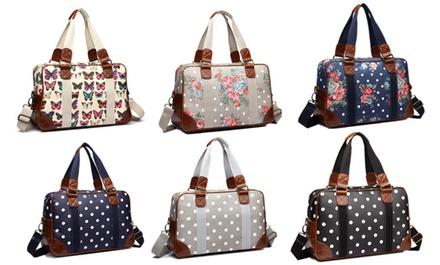 Miss Lulu Oilcloth Travel Bag