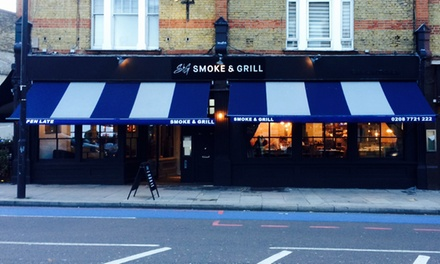 Argentinian Steak with Wine for Two or Four at Smoke and Grill, Balham (51% Off)