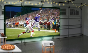 Favi LED Projector with 100'' Screen Bundle