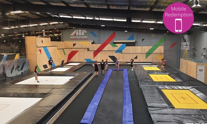 jump jump trampoline park pass air factory trampoline park groupon