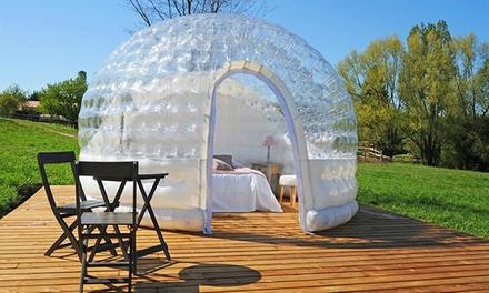 Isère: 1 ou 2 nuits en bulle, cabane ou pigeonnier avec champagne et repas en option au Domaine de Suzel pour 2