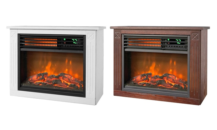 Lifezone 3-Element Small Infrared Wood Fireplace