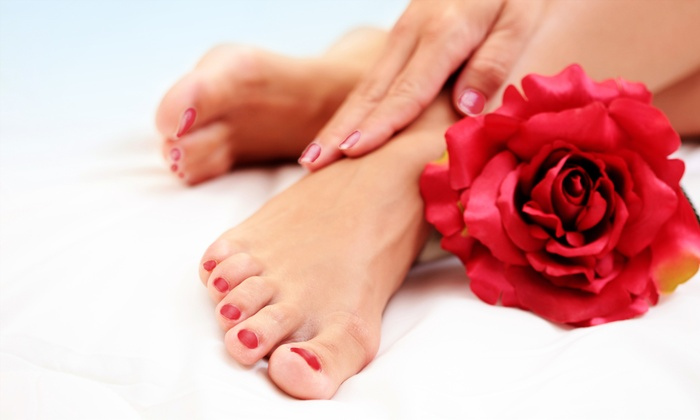 NuVibe Aroma Day Spa - Niagara Falls: Gel Mani-Pedi or Couples Massage at NuVibe Aroma Day Spa (Up to 60% Off)