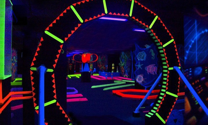 Glow–A–Rama - Buchanan: Round of Black-Light Mini Golf Two or Four at Glow-A-Rama (Up to 53% Off)