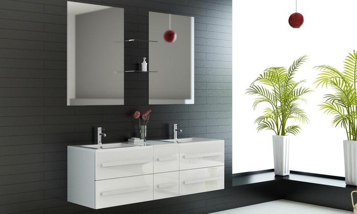 meuble salle de bain groupon