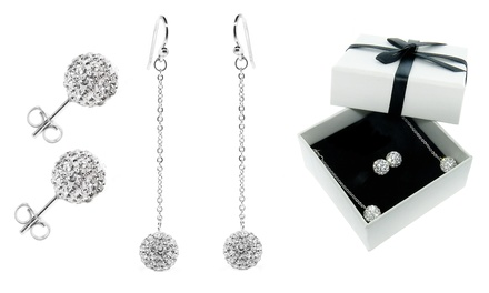 Stud and Drop Earrings Set with Swarovski Elements