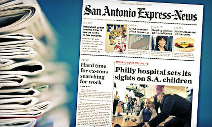 "San Antonio Express-News - San Antonio: $52 for 52 Weeks of Sunday Home Delivery from ""San Antonio Express-News"" ($117 Value)"
