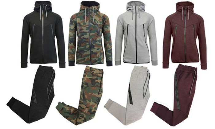 Men S Tech Fleece Hoodie Jogger Set Groupon