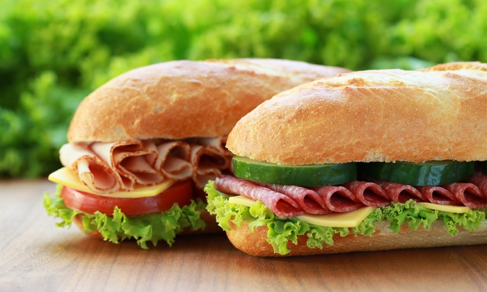 "Blimpie ""Americas Sub Shop"" - Multiple Locations: Two or Three Groupons, Each Good for $10 Worth of Sub Sandwiches at Blimpie (Up to 50% Off)"