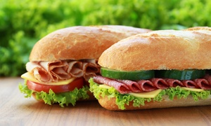 """Blimpie """"Americas Sub Shop"""": Two or Three Groupons, Each Good for $10 Worth of Sub Sandwiches at Blimpie (Up to 50% Off)"""