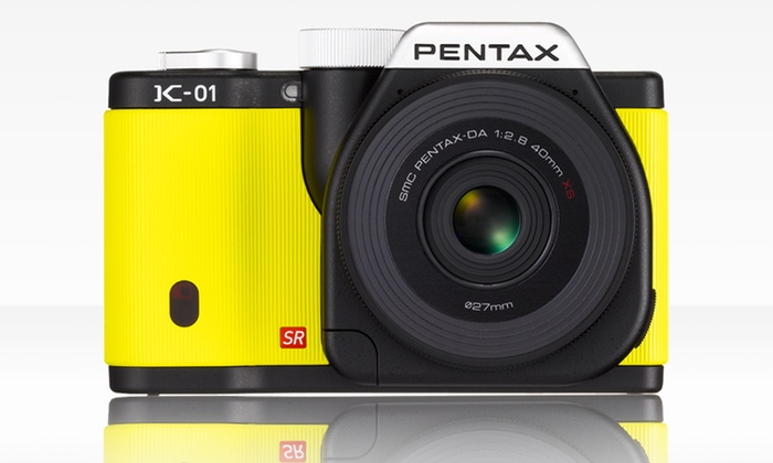 Pentax Digital Camera with 40mm Lens Kit: Pentax K-01 16MP Camera Kit with a 40mm Lens. Free Shipping.
