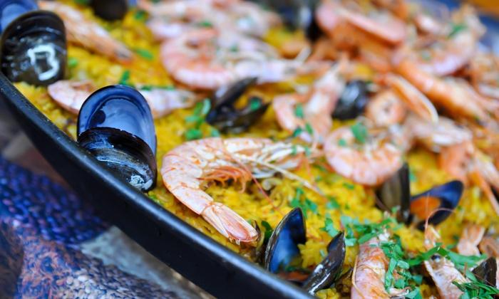Spanish tapas jaleo ocho groupon for Jj fish n chicken
