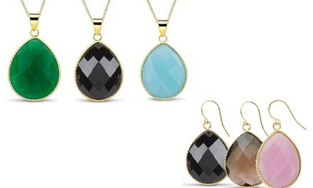 Genuine Gemstone Jewelry Set (2-Piece)