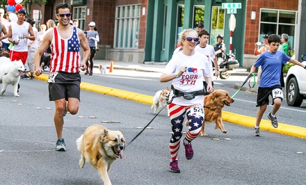 One, Two, or Four Entries for Bellevue Four on the 4th Dog Jog & Walk presented by BECU (Up to 54% Off)