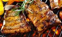 Menu di carne con antipasto, primo, secondo, dolce e vino (sconto fino a 66%)