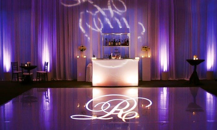 Chrysis Entertainment - Foggy Bottom - GWU - West End: 25 or 50 LED Uplighting and Custom Monogram Lights from Chrysis Entertainment (Up to 55% Off)