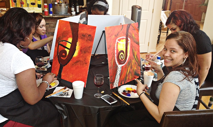 Trevino paint up to 42 off pikesville md groupon for Painting classes ct