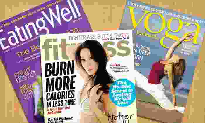 Healthy Living Magazines: Fitness, EatingWell, or Yoga Journal Magazines (Up to Half Off). Five Subscriptions Available. Free Shipping.