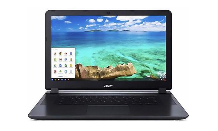 Acer Chromebook 15.6 Laptop with Intel Celeron Processor and 2GB RAM (Manufacturer Refurbished)