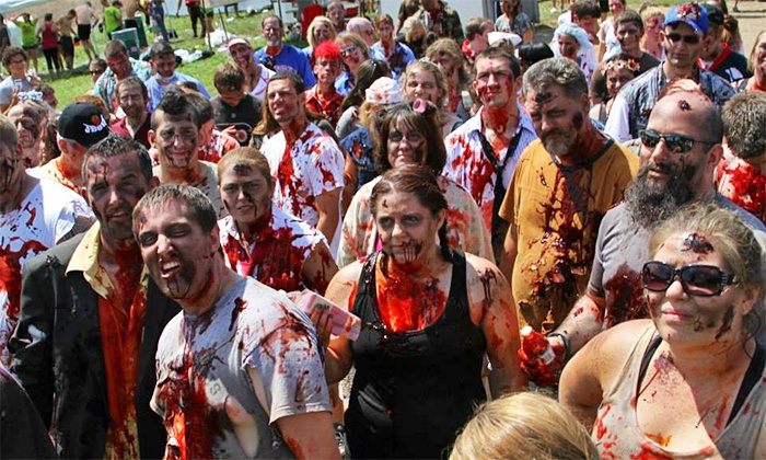 The Zombie Race at Six Flags Great Adventure - Six Flags Great Adventure: The Zombie Race at Six Flags Great Adventure 5K or 15K Race with Full Theme-Park Access (Up to 50% Off)