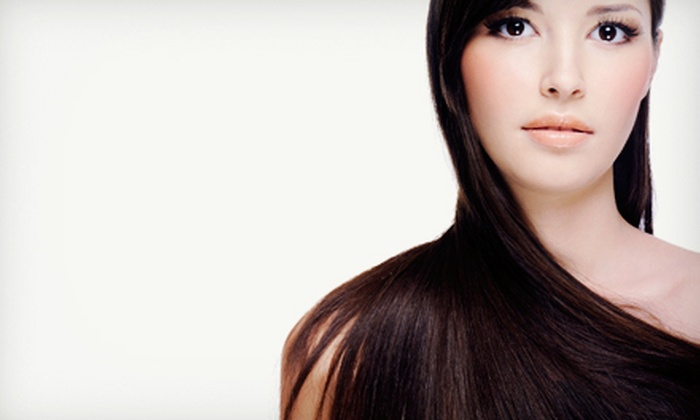 Chadowboxx Salon - Wilkes East: Haircut with Option for Permanent Relaxer, All-Over Color, or Smoothing Treatment at Chadowboxx Salon (Up to 72% Off)