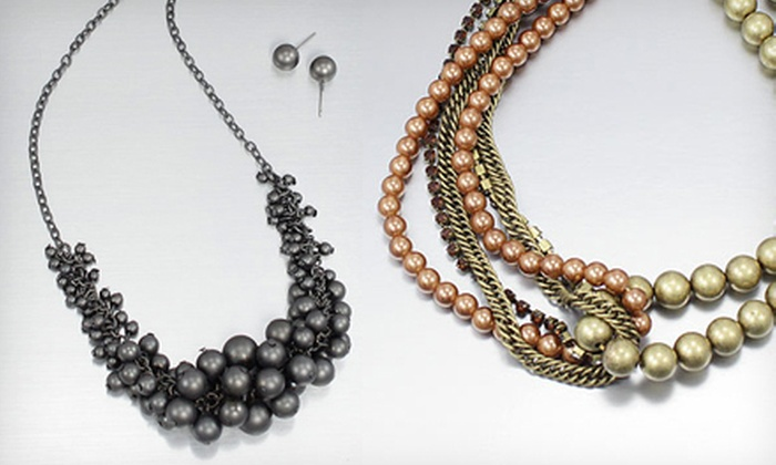 Charm and Jewels: $25 for $50 Worth of Jewelry from Charm and Jewels