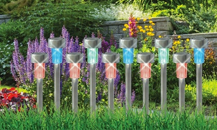 10 luci solari led colorate groupon goods for Luces led jardin