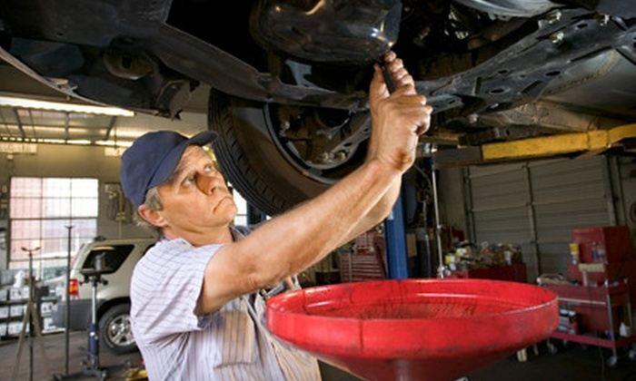 Goodyear Tire Giant/Brakes Xpress - Multiple Locations: Oil-Changes with Tire Rotations and Safety Inspections or Brake Pads or Shoes at Goodyear Brakes Xpress (Up to 71% Off)