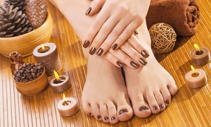 Fabulous Touch Ladies Salon: Classic or Gelish Mani-Pedi with Optional Foot Spa Treatment at Fabulous Touch Ladies Salon