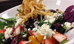 Sonoma'z Wine Bar and Grill: Lunch for Two, or Dinner Meals for Two, Four, or Six at Sonoma'z Wine Bar and Grill (Up to 53% Off)