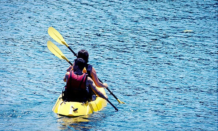 Go Kayak Arizona - Peoria: Two-Hour Kayak Rentals on Lake Pleasant from Go Kayak Arizona (Up to 51% Off). Choose between Single or Tandem Kayaks.