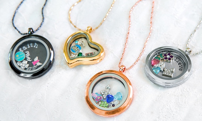 Stamp the Moment: Locket Necklace or Bracelet with Optional Charms from Stamp the Moment (Up to 61% Off)