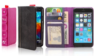 Aduro Bookcase Folio And Wallet For Iphone Or Samsung Galaxy