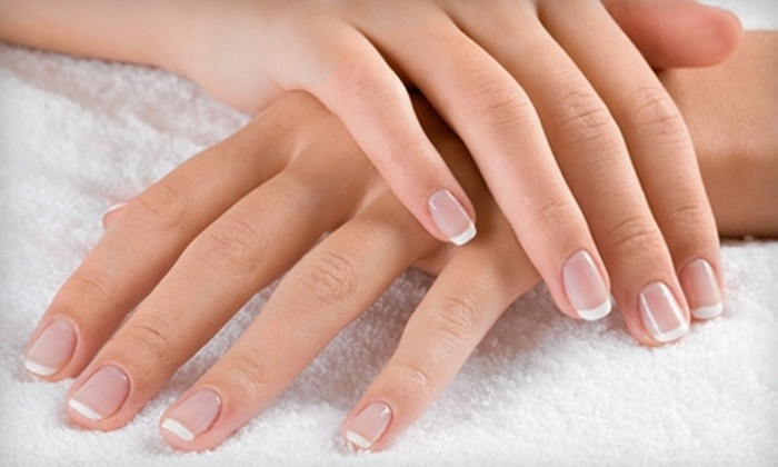 Hanna Nails - Hanna Day Spa: Shellac Gel Manicure with Optional Spa Pedicure, or Pink-and-White SNS Nails at Hanna Nails (Up to 53% Off)